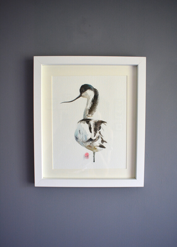 Avocet Watercolour Painting