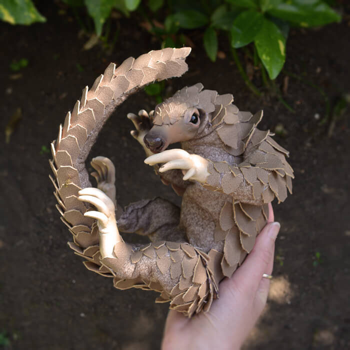 Pangolin-Faux-Taxidermy