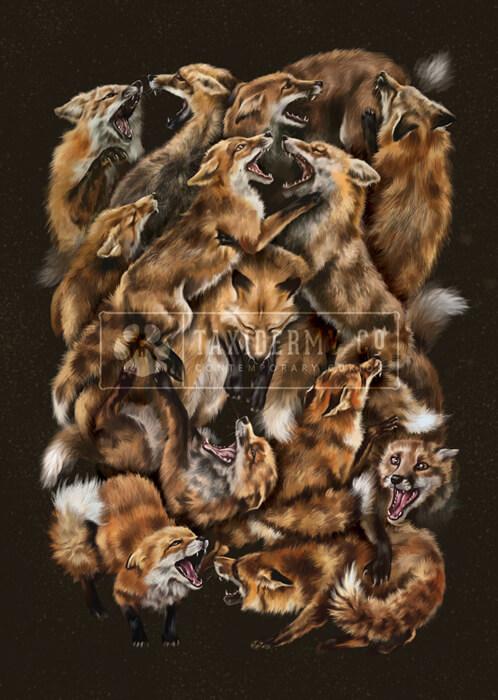foxforce Wildlife Art Print