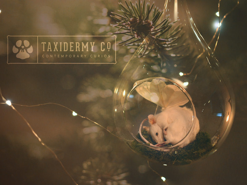 Christmas Taxidermy Mouse Decoration