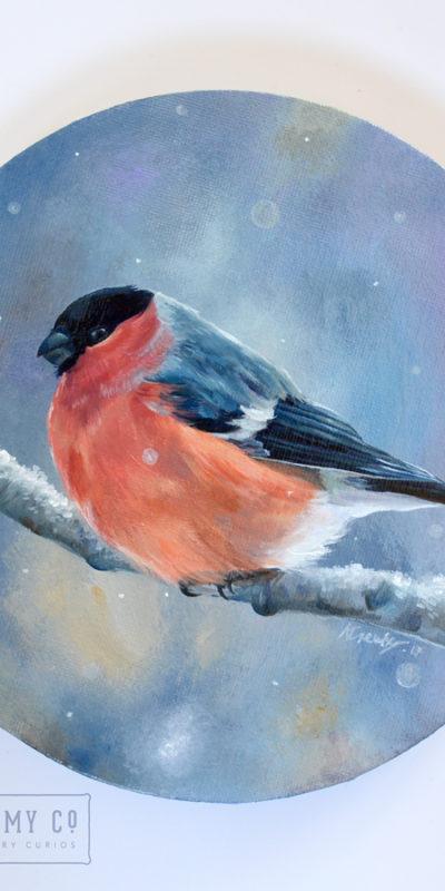 Bullfinch Oil Painting