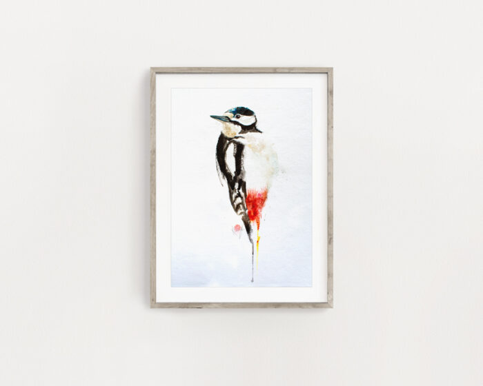 Great Spotted Woodpecker Painting